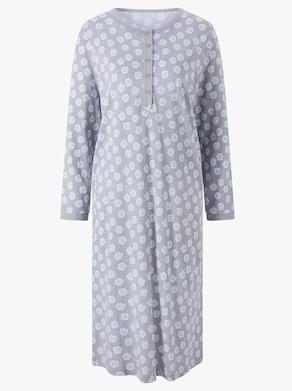wäschepur Nachthemd - steingrau-bedruckt