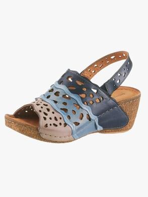 Sandalette - blau-grau