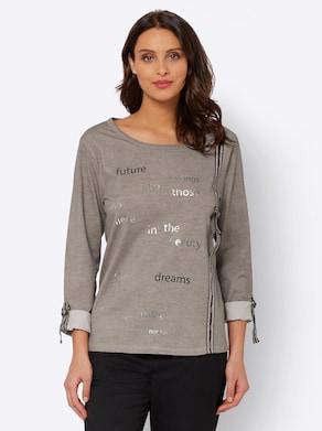 Shirt - taupe-bedruckt