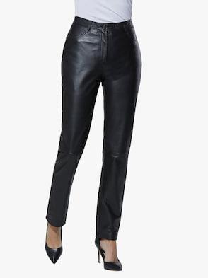 Leder-Hose - schwarz