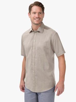 Kurzarm-Hemd - beige