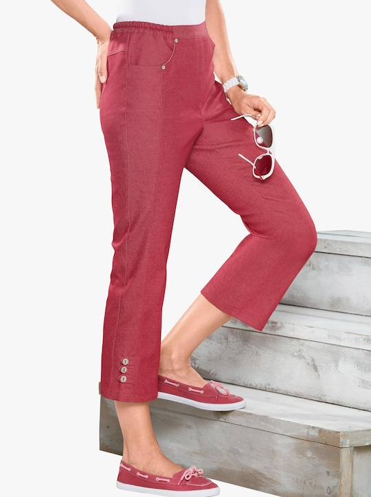 7/8-jeans - rood