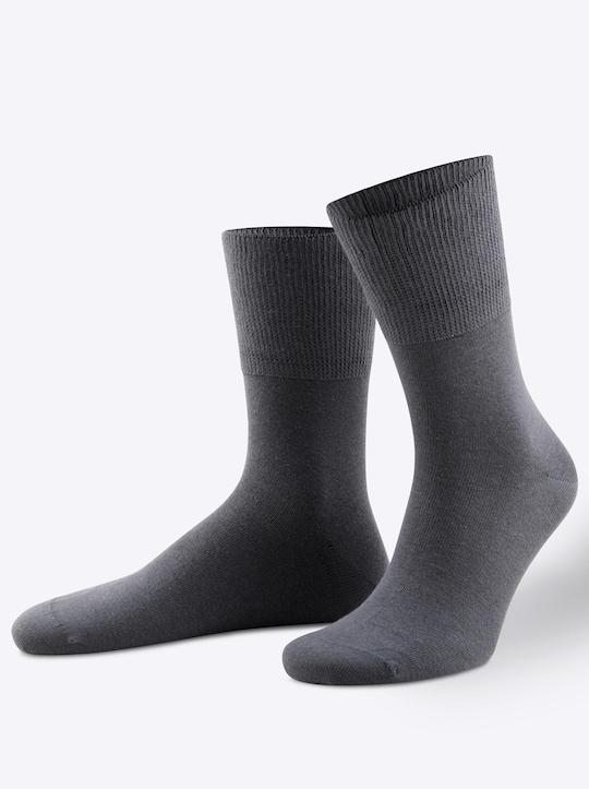 wäschepur Socken - anthrazit
