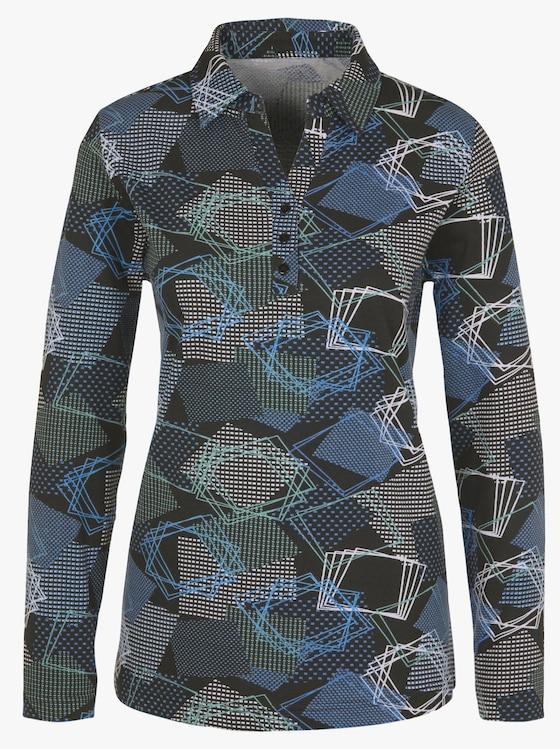 Shirt - marine gedessineerd