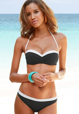 LASCANA Bügel-Bandeau-Bikini - schwarz