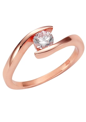 Firetti Zilveren ring - roze/wit