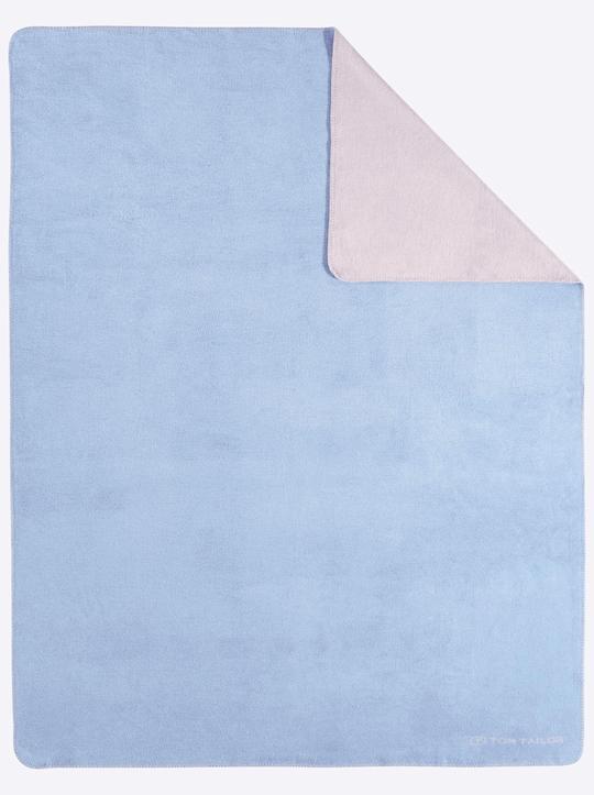 TOM TAILOR Wohndecke - blau-grau