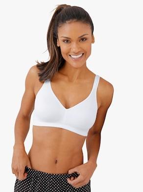 Naturana Komfort-BH ohne Bügel - weiß + puder