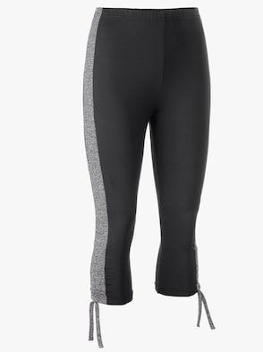 Plantier Capri-Leggings - schwarz-grau