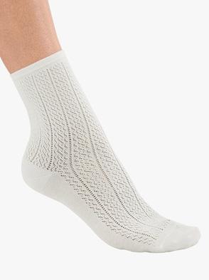 Damen-Socken - wollweiß
