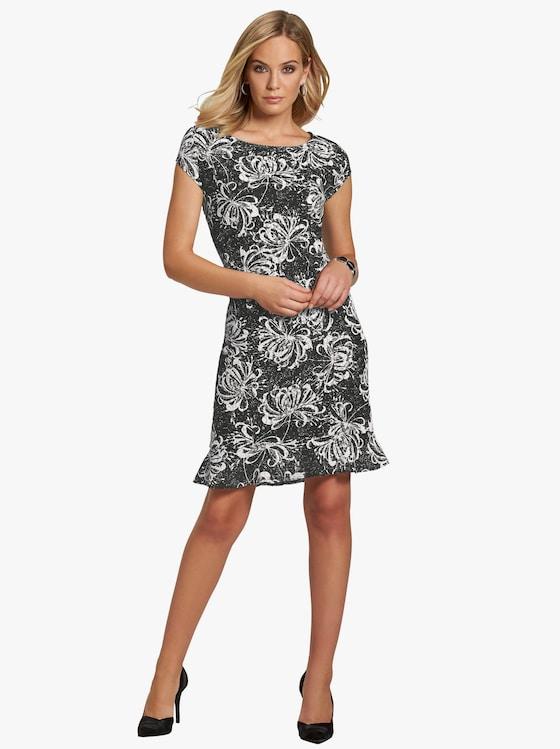 Kleid - schwarz-bedruckt
