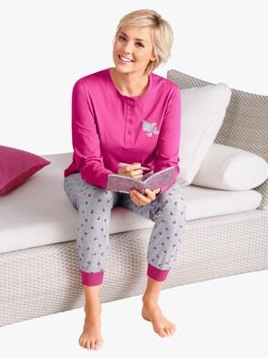 Schlafanzug - pink-grau
