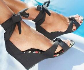 LASCANA High-Heel-Sandalette - schwarz