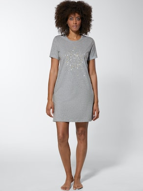 wäschepur Sleepshirts - zitrone-meliert + grau-meliert
