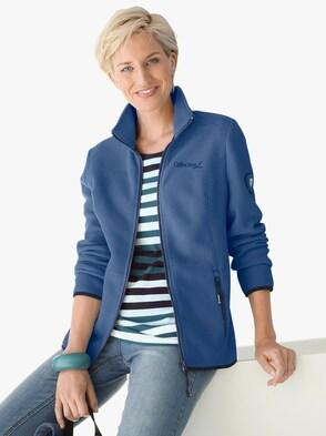 Fleecevest - jeansblauw