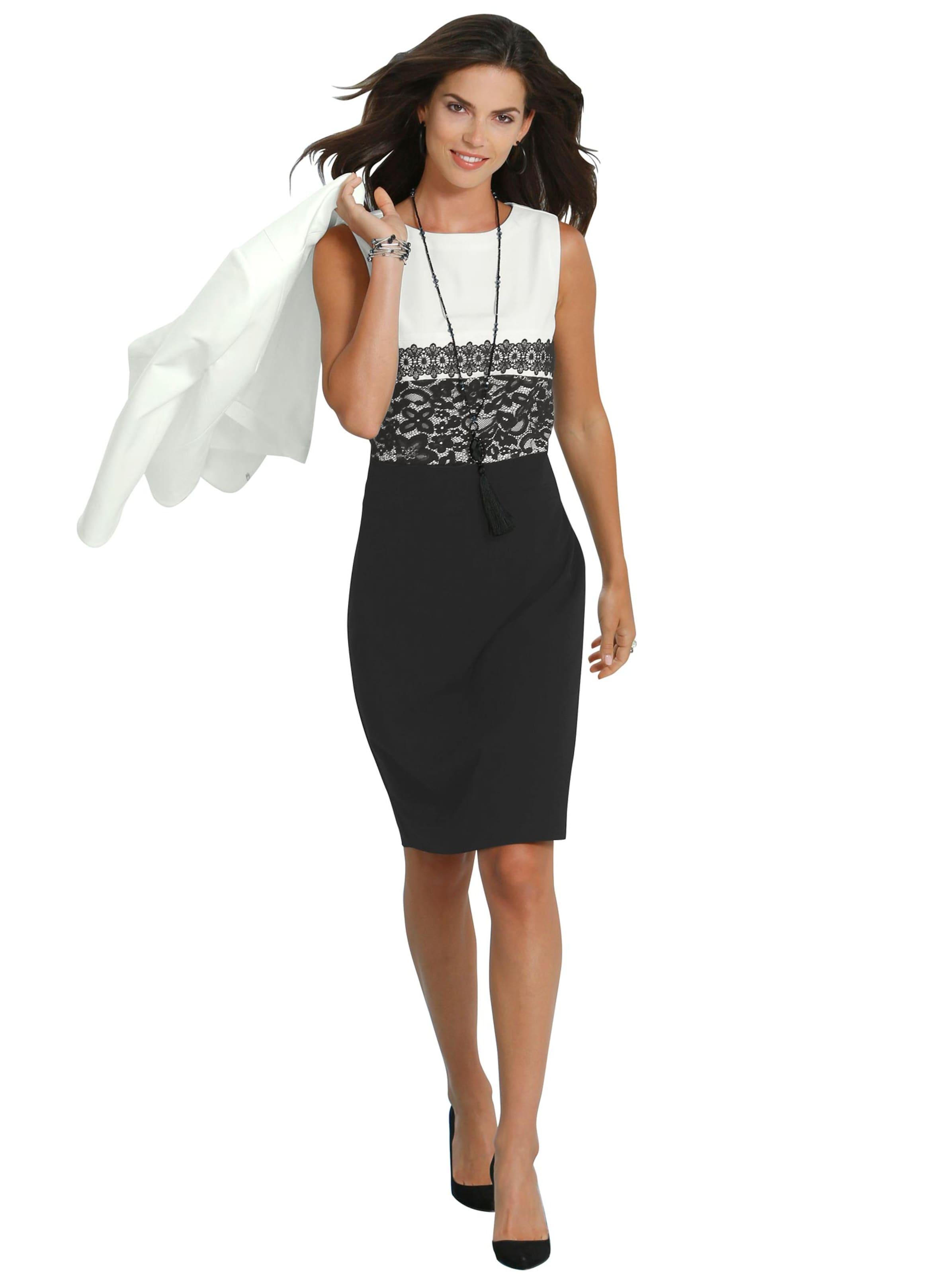 witt weiden - Damen Kleid schwarz-weiß-gemustert