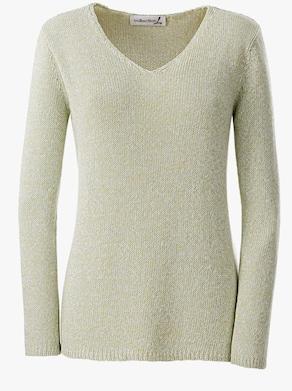 Collection L Pullover - grün-meliert