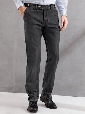 Autofahrer-Jeans - black-denim