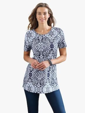 Lang shirt - marine geprint
