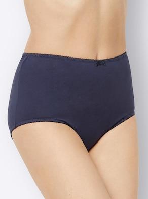 wäschepur Tailleslip - 2x nachtblauw bedrukt + nachtblauw + terra