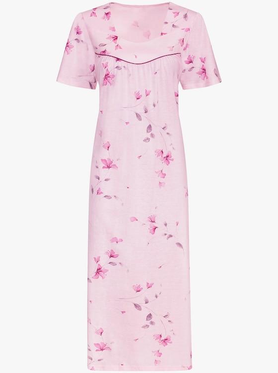 Arabella Nachthemd - rosé-bedruckt