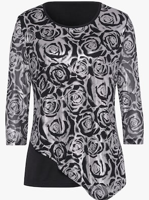 2-in-1-shirt - zwart/zilverkleur
