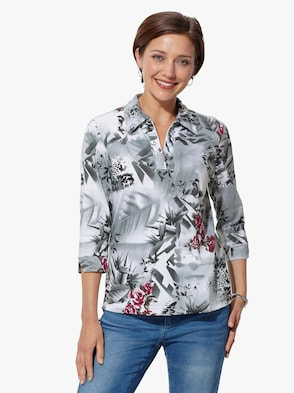 Shirt - fuchsia gedessineerd