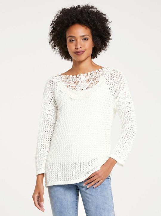 Linea Tesini Pullover - weiß