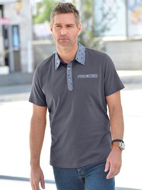 Kurzarm-Shirt - grau