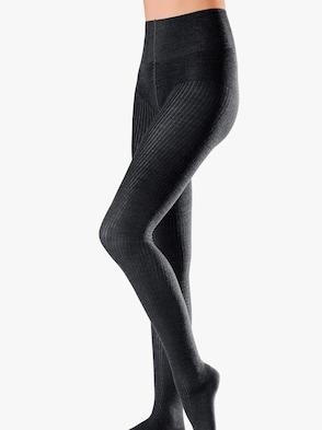 Strick-Strumpfhose - schwarz