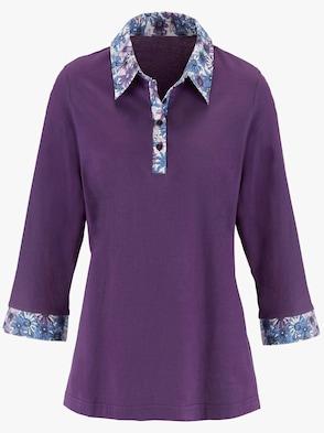 Shirt - lila-blau-gemustert