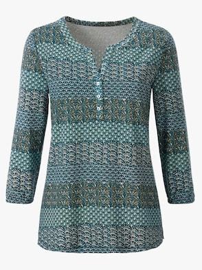 Shirt - türkis-blau