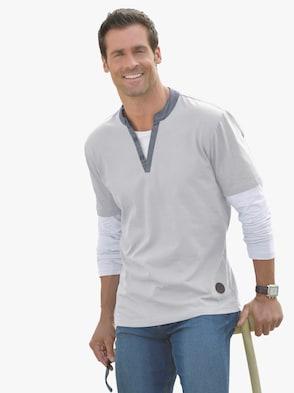 Tričko s dlouhým rukávem - šedá