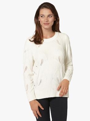 Pullover - wollweiß