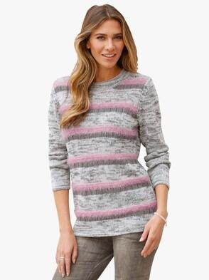 Pullover - grijs/roze
