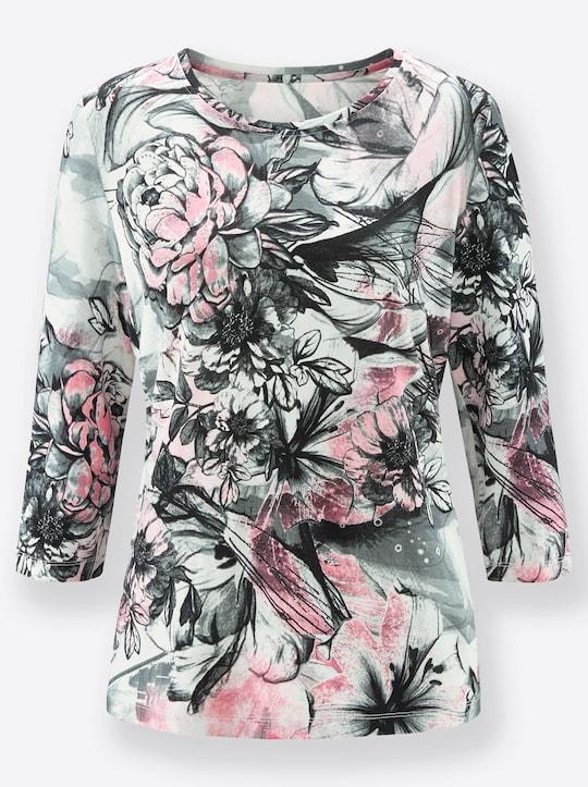 Fair Lady Shirt - rosé-grau-bedruckt