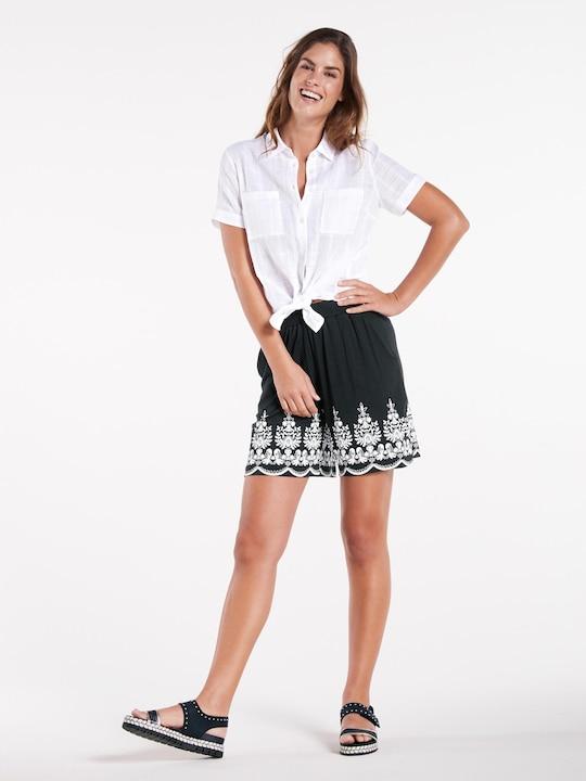 Linea Tesini Shorts - schwarz-offwhite