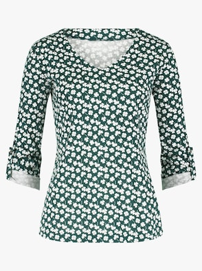 Shirt - grün-bedruckt