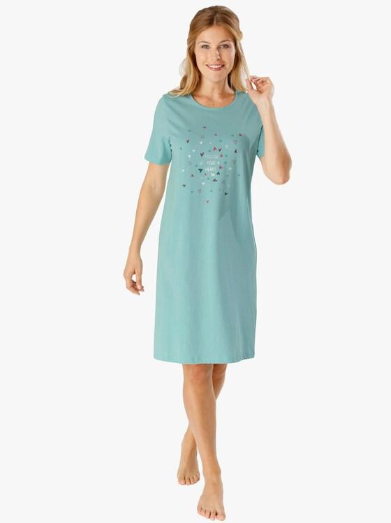 Nachthemd - mint + mauve
