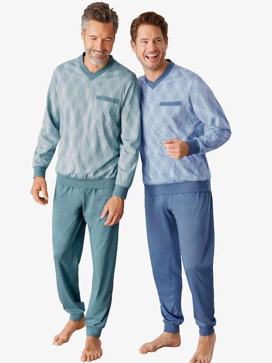 Schlafanzüge - mint + blau