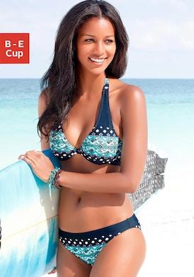 KangaROOS Bügel-Bikini - marine-bedruckt