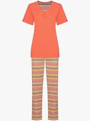 Comtessa Schlafanzug - orange-bedruckt