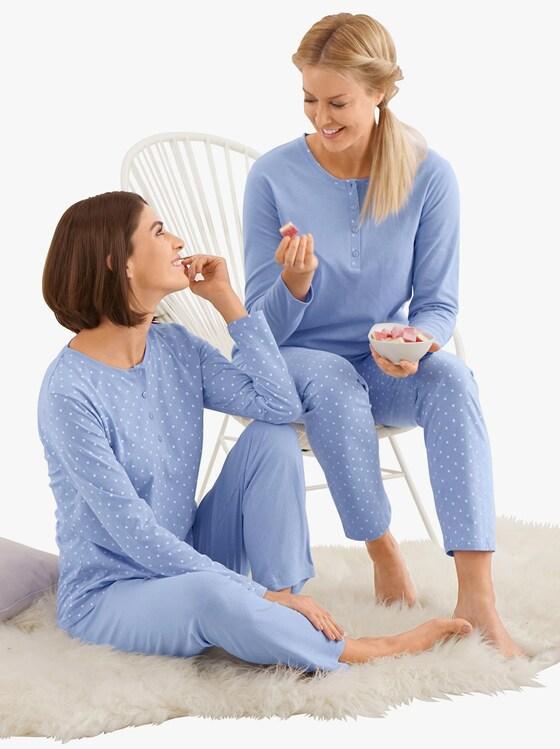 Driesen Schlafanzüge - hellblau-gemustert