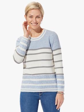 Pullover - bleu-geringelt