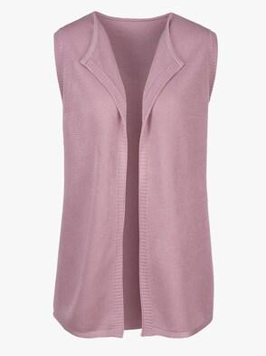 Pletená vesta - svetloružová