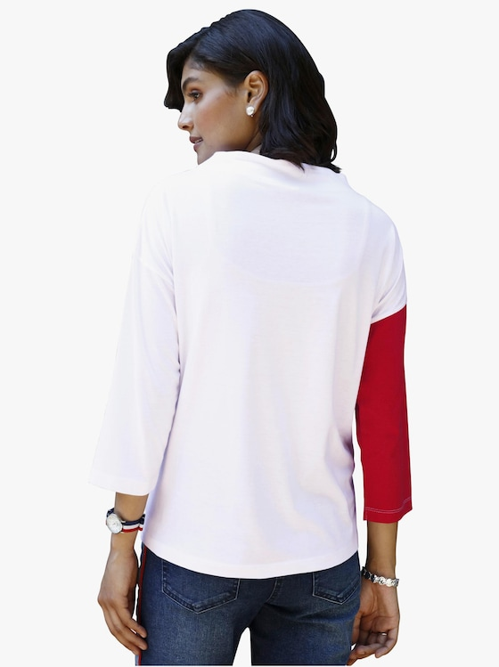 Shirt - rood/wit