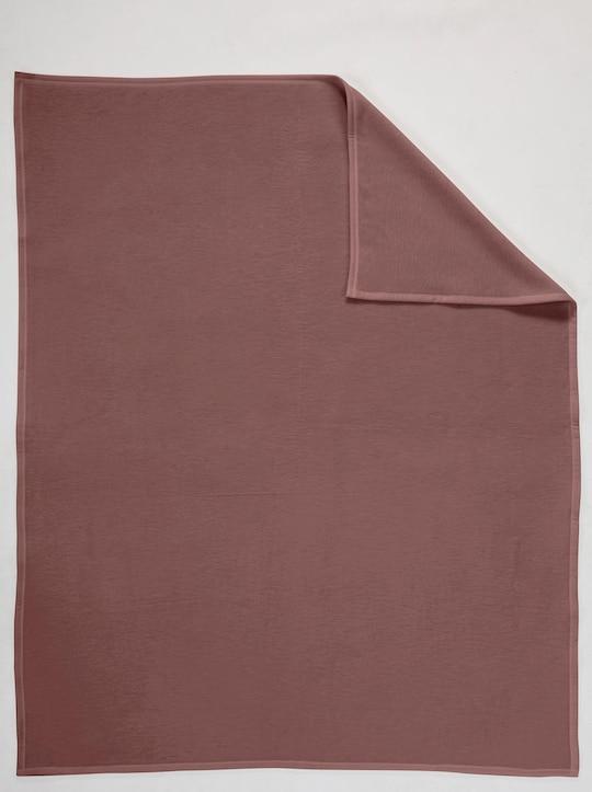 Biederlack Baumwolldecke - schokobraun