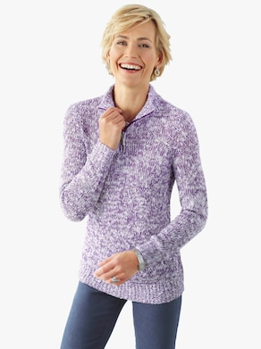 Pullover - lila gemêleerd