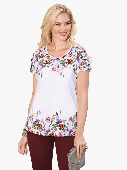 Shirt - ecru geprint