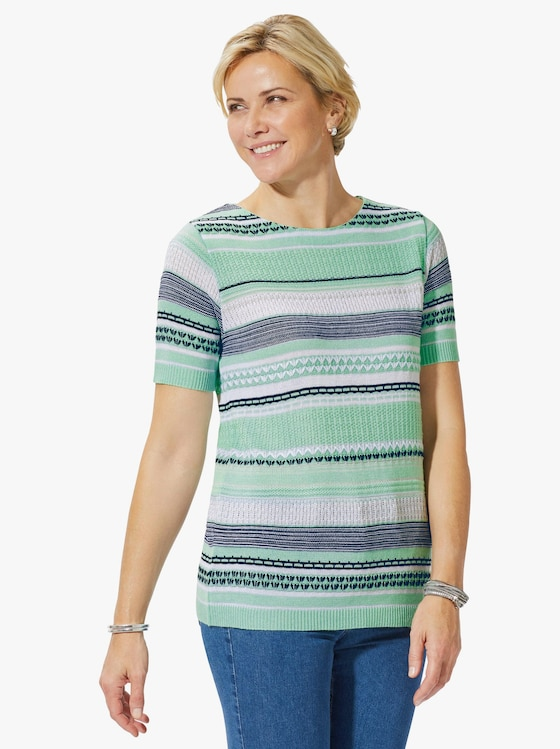 Collection L Pullover - mint gedessineerd